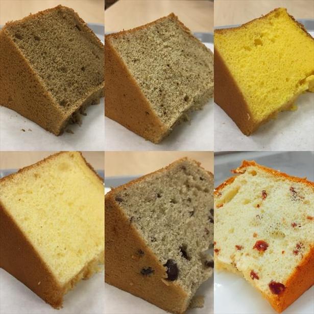「天然酵母のパン・シフォンケーキ コボコボドライブイン」の「持てるプリン」の異名を持つ口どけ滑らかな生シフォンケーキ