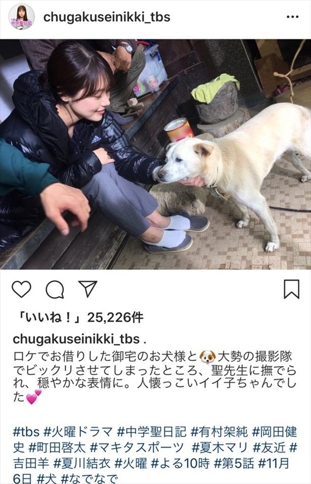 ※火曜ドラマ「中学聖日記」Instagram(chugakuseinikki_tbs)のスクリーンショット