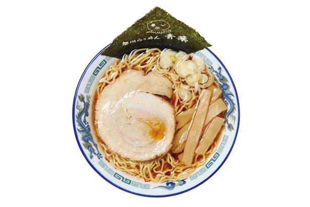 正油らぅめん(750円)。透き通ったスープは、昆布などのダシが効いたあっさり味。客の9割が注文する