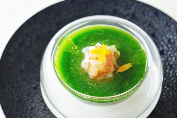 「命草と島豆腐のクープ」