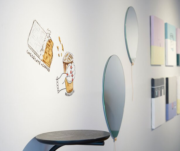 Cafe no. FUKUOKA / おしゃれなイラストが描かれた壁は、フォトスポットとしておすすめ