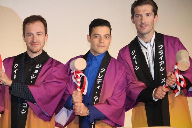 『ボヘミアン・ラプソディ』のジャパンプレミアで鏡開きが行われた
