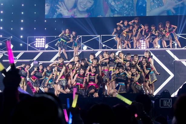 結成8周年ライブを開催したNMB48