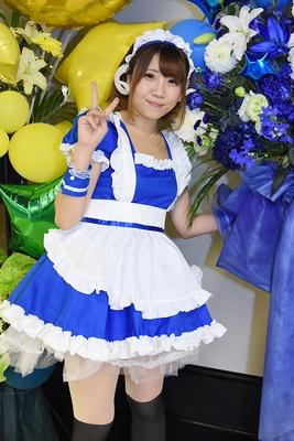 オリジナルのメイド衣装で「ニコニコ超パーティー」に参加した さっちーさん(りさりさどっとこむ)