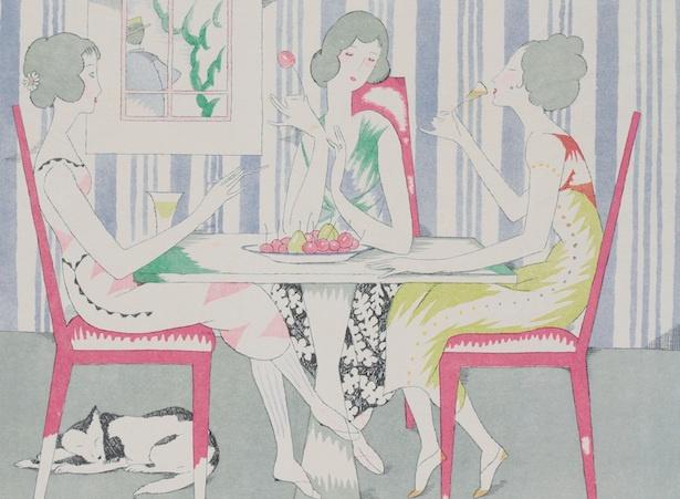 【写真を見る】竹久夢二の作品「涼しき装ひ」