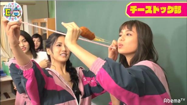 「韓国チーズドッグ部」ではノビを測定!