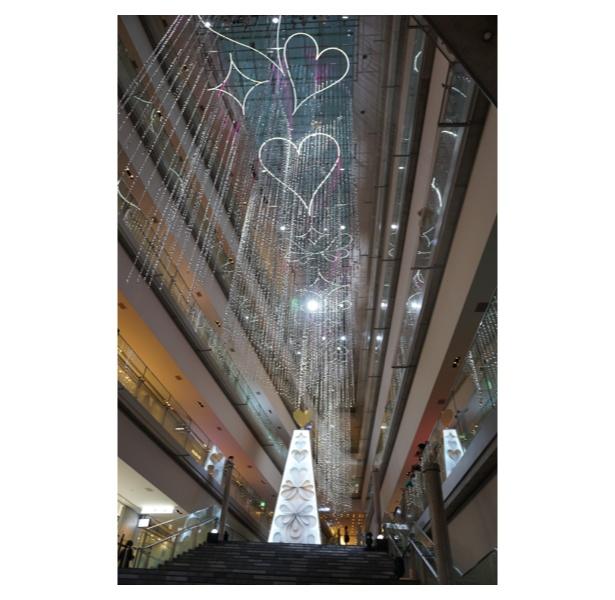 【写真を見る】約6000本のアイシクル(つらら)からなる「光のカーテン」