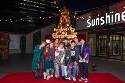 「Sunshine Cityウェルカムツリー」点灯式に来月メジャーデビューのFANTASTICS from EXILE TRIBEが登場