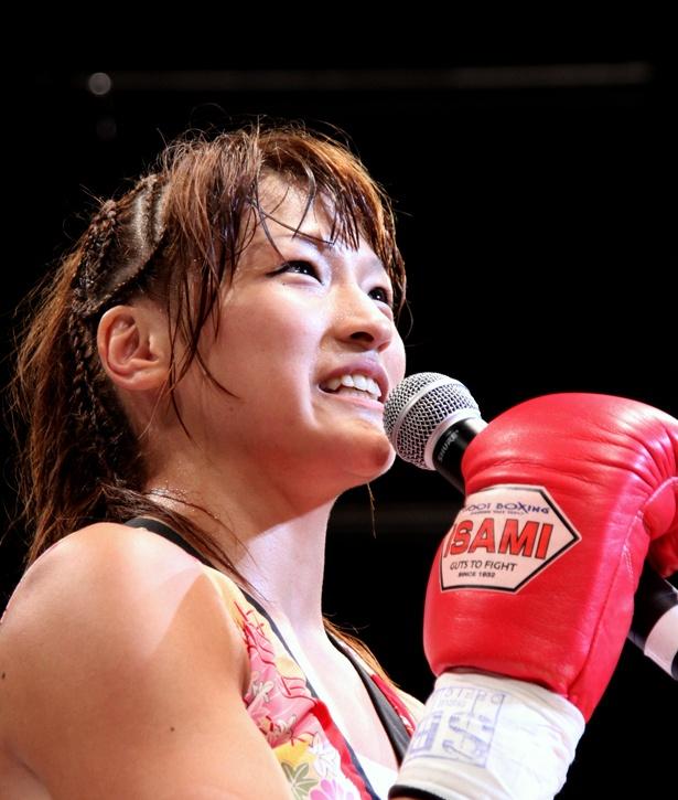 シュートボクシング所属のRENAだが「忘れ物をしているような」というRIZINのリングでの復帰を決めた