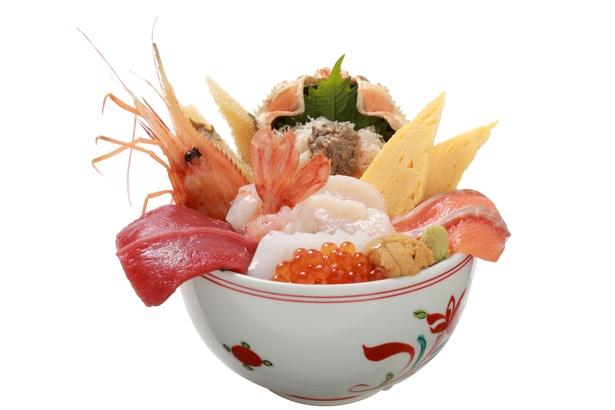 築地すし好 和「豪華絢爛 海鮮北海丼」(2160円)