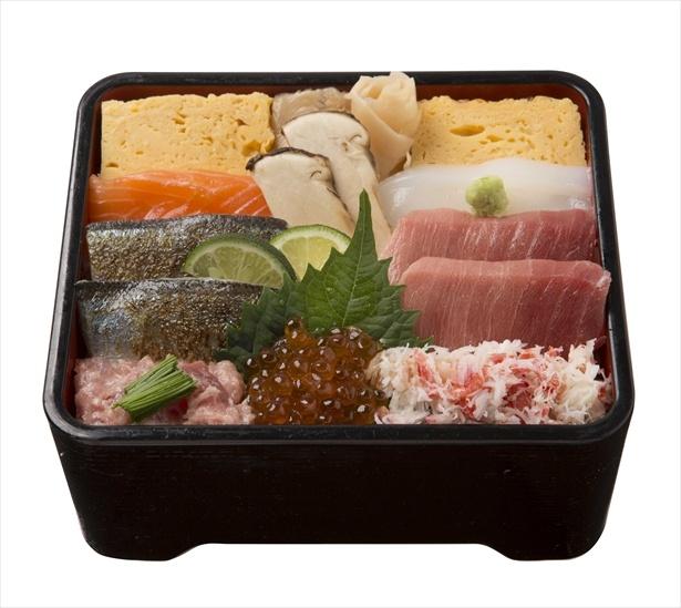 築地寿司清「天然鮪と炙り秋刀魚の秋の味覚丼」(2160円)