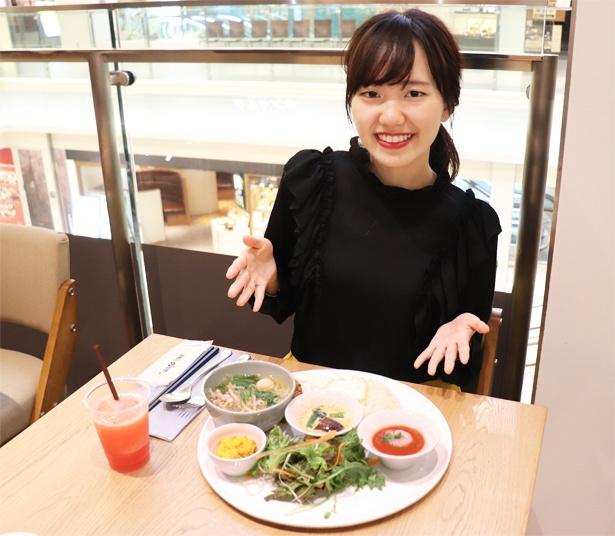 想像以上のボリュームに驚き!野菜が多いけどお腹いっぱいに!!