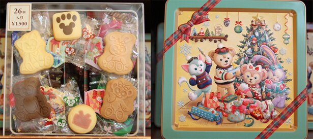 6種類のクッキーが計25個入った「アソーテッド・クッキー」(1500円)。リボンをかけたようなデザインの缶も魅力