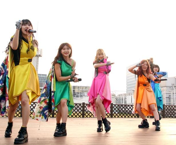 「愛愛ファイヤー!!/私達(with friend)」リリースイベントを開催したアップアップガールズ(仮)