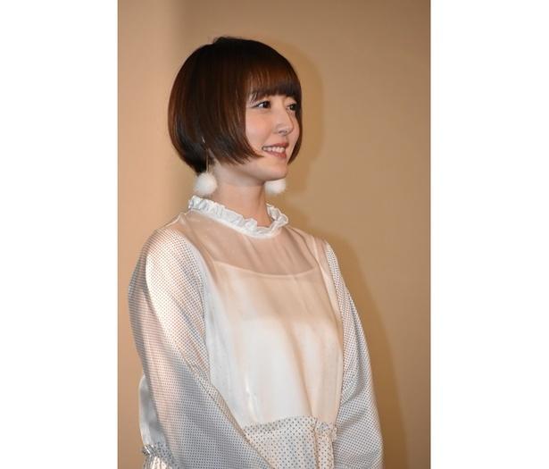 映画『GODZILLA』三部作の最終章、『GODZILLA 星を喰う者』の舞台挨拶に出席した、ユウコ・タニ役の花澤香菜さん