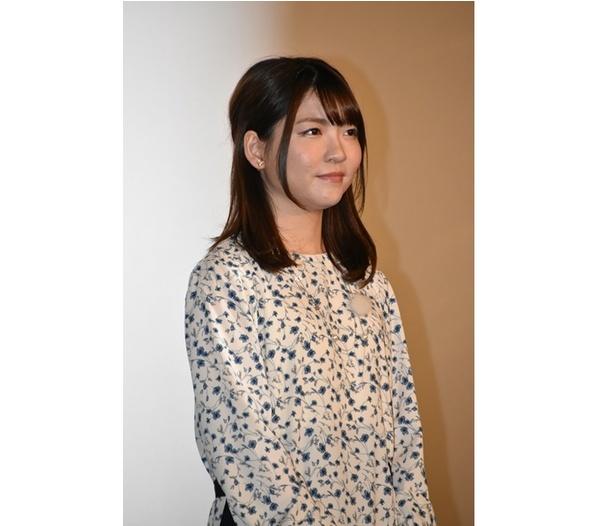 映画『GODZILLA』三部作の最終章、『GODZILLA 星を喰う者』の舞台挨拶に出席した、ミアナ役の小澤亜李さん