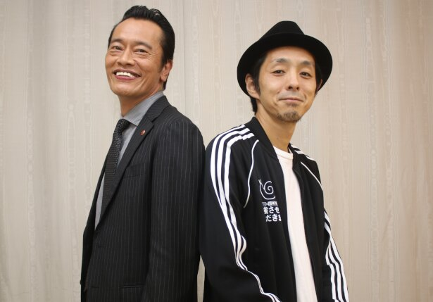 「遠藤憲一と宮藤官九郎の勉強させていただきます」の主演俳優・遠藤憲一と脚本家の宮藤官九郎