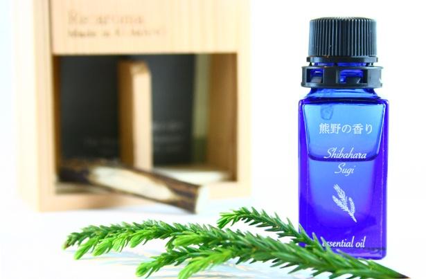 maffably「熊野の香り」シリーズの100%天然エッセンシャルオイル。「熊野の森」の熊野杉から抽出したフルーティな香りが楽しめる