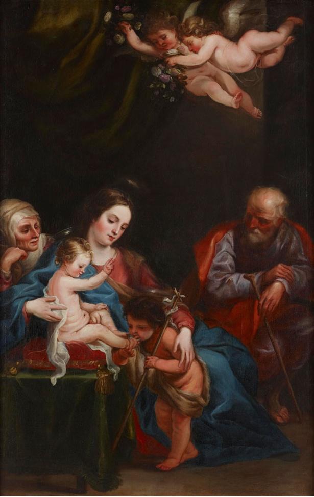長崎県美術館 / フアン・カレーニョ・デ・ミランダ「聖アンナ、聖ヨアキム、洗礼者聖ヨハネのいる聖母子」1646-55年頃