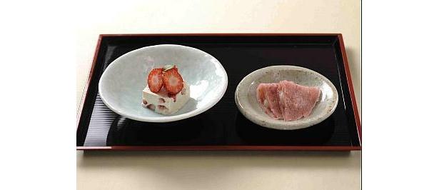 京懐石 美濃吉「紅ほっぺ京風スイーツ」(800円)