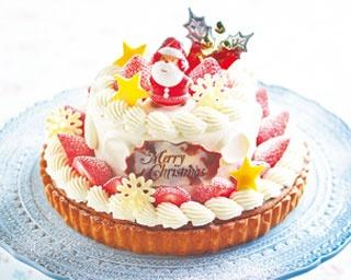 ハナフル X'mas限定フルーツパフェ(6480円、上)、パフェスタイルケーキは今年初登場 /阪神梅田本店