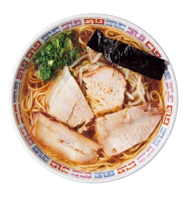 中華そば ノーマル(650円)。鶏ガラ、野菜、豚骨の甘味あるまろやかなスープは、柔らかめのストレート麺によくなじむ/大橋中華そば