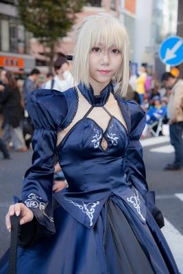 「Fate/GrandOrder」のアルトリア・オルタに扮したとーあさん