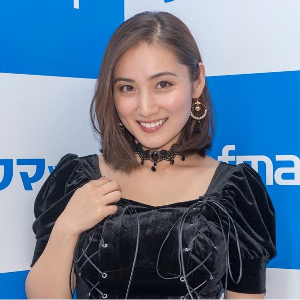 DVD&Blu-ray発売イベントに出席した紗綾
