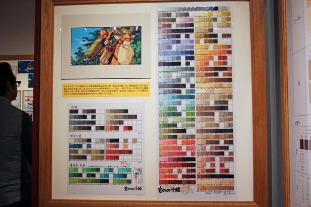 スタジオジブリ最後のセル絵の具使用作品『もののけ姫』。歴代最高の580色が使用されているという