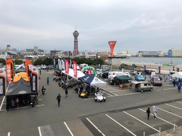 屋外スペースはキャンピングカー展示以外のアトラクションも出現