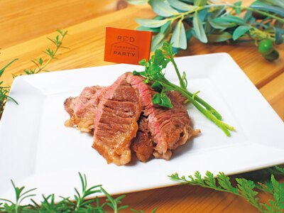 オーストラリアのステーキ(900円)/光のマルシェRED Christmas Party