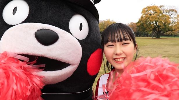くまモンとHKT48・田中美久が出演するウェブムービー「おりひめJAPANを応援!~くまモンとHKT48・田中美久が応援練習武者修行~」が公開