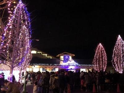 【写真を見る】駅周辺で繰り広げられる、雪国ならではの光の演出が楽しめる