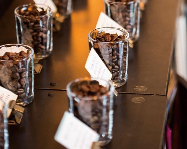 ハンドピックを丁寧に行い、見た目にも美しいコーヒー豆たち