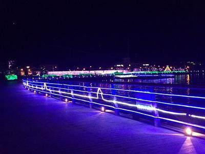 普段とは違った雰囲気の敦賀港