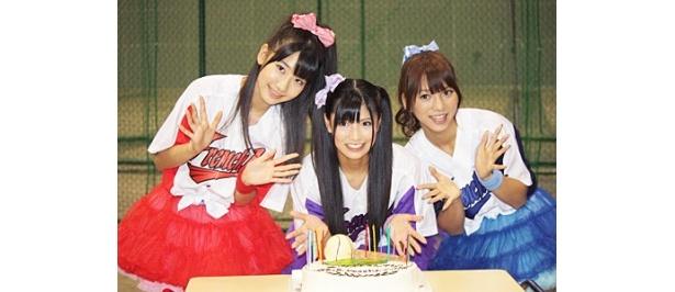 「フレンチ・キス」のメンバー・倉持明日香、柏木由紀、高城亜樹(写真左から)がファン交流イベントを開催