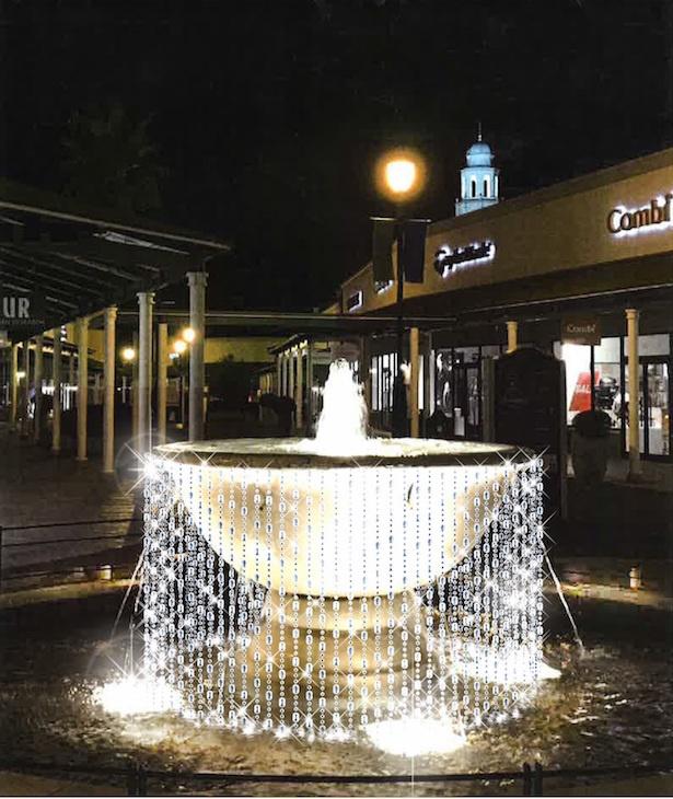 【写真を見る】クリスタルで装飾された噴水