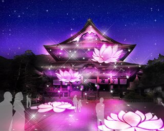 長野駅から善光寺へと続く表参道がイルミネーションで幻想的に飾られる