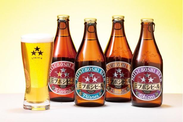 「『盛田金しゃちビール』のミツボシビール」(350ml 514円)。東海で造られる銘酒の品々も必見。