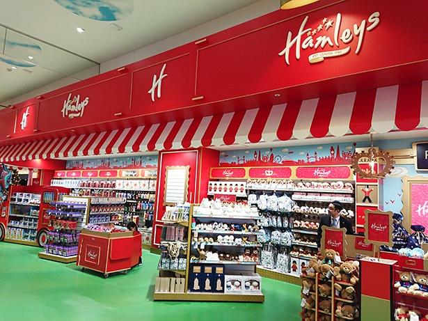 【写真を見る】約10万9,000点もの商品が並んでいる。日本初登場のハムリーズのオリジナル商品もたくさん