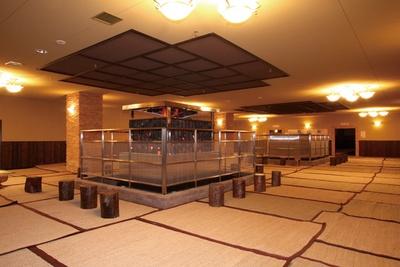 天然温泉 コロナの湯 小倉店 / 効率よく発汗できる低湿高温の天然溶岩サウナ「健美効炉」