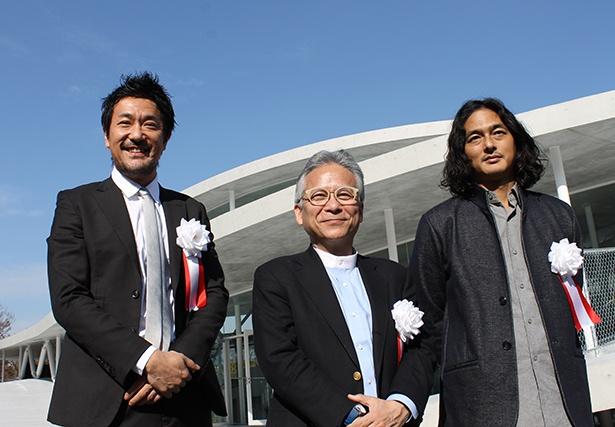 左から猪子氏、石井氏、村松氏。新校舎に対する期待を語ってくれた