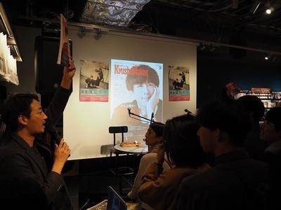 イベント前に挨拶する「九州ウォーカー」町田拓郎編集長(写真左)