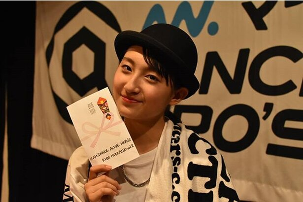 「Dance Alive Heros 北海道 Vol.2」で優勝したRingo Winbee