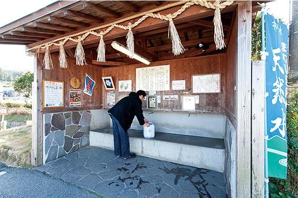 まむしの湯 / 名水販売所(100円/20リットル)。脊振山系に磨かれた湧水を持ち帰ろう