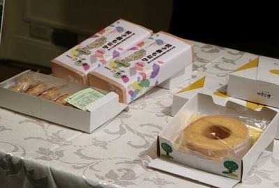イベントでは宇都宮のご当地和菓子「餃子像もなか」なども紹介されていた