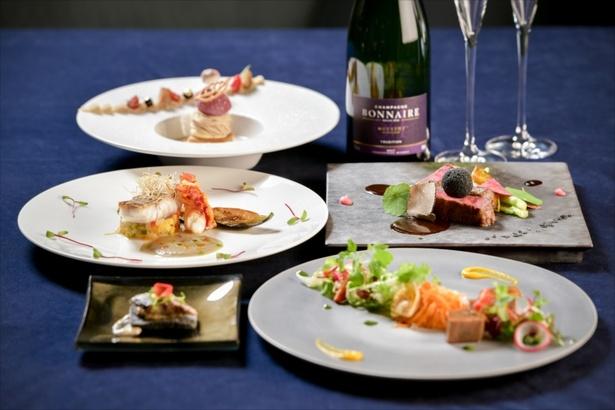 【画像を見る】「Sky Restaurant 634(musashi)」粋コースを夜景と共に