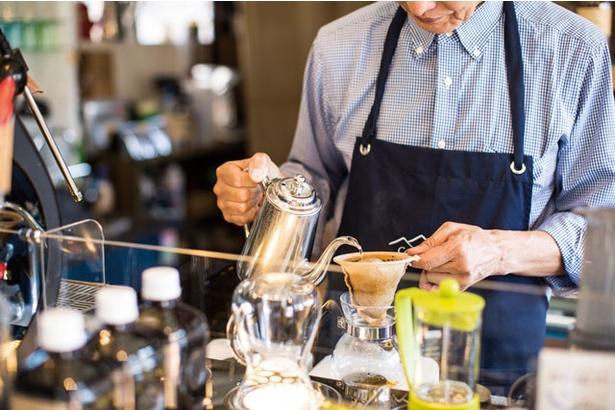 森山さんが一番得意とするネルドリップで淹れるコーヒー(600円)