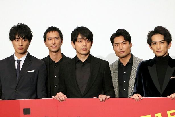 『jam』の初日舞台挨拶に登壇した青柳翔、鈴木伸之、町田啓太たち