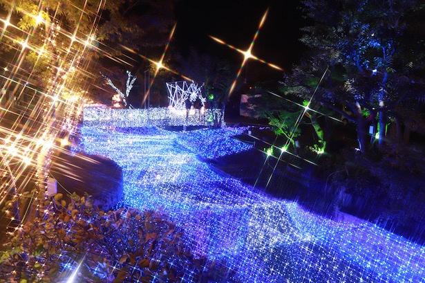 佐賀の街が美しくライトアップ